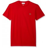 Lacoste Men's Standard Short Sleeve Jersey Pima Regular Fit Crewneck T-Shirt, Th6709-51