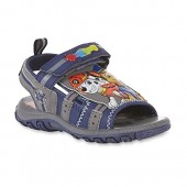 Paw Patrol Nickelodeon Light-Up Boys Sport Sandal With Chase and Marshall