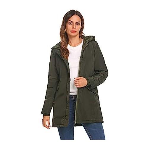 CHANGLIU LIN Ladies Autumn Winter Coat,Womens Wool Windbreaker Jacket Long Cardigan Peacoat