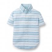 Hope & Henry Boys Linen Short Sleeve Shirt Made With Organic Cotton