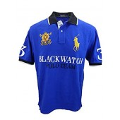 Polo Ralph Lauren Mens Big  Tall Mesh Classic Fit Blackwatch Big Pony Polo Shirt