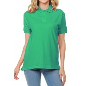 FRESH TEE Women's Adult Unisex 100% Cotton Classic Fit Polo Shirt Short Sleeve for Daily Work School Uniform