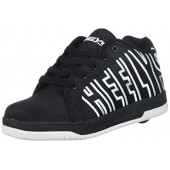 Heelys Boys' Split Sneaker, Black/White, 4 Medium US Big Kid