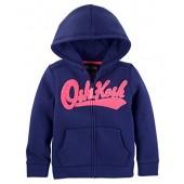 OshKosh B'Gosh Osh Kosh Girls' Full Zip Logo Hoodie