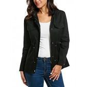 b0a7d940f14 etuoji New Women Hooded Long Sleeve Solid Zip-up Lightweight Anorak Jacket  Coats Outwear with
