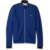 Lacoste Men's Long Sleeve Semi-Fancy Pique Full-Zip