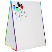 Tabletop Magnetic Easel & Whiteboard (2 Sides) Includes: