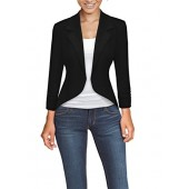 HyBrid & Company Womens Casual Work Office High Low Blazer Jacket
