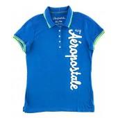 Aeropostale Women's Polo Shirt Aero York Graphic Embroidered Logo Est 87