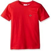 Lacoste Boys' Short Sleeve Crewneck T-Shirt