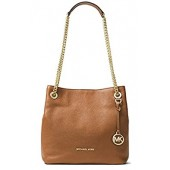 Michael Kors Womens Jet Set Chain Pebbled Leather Shoulder Handbag