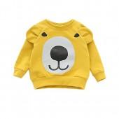 1-4T Infant Toddler Bear Printing Long Sleeve T Shirt Baby Girls Tops Blouse