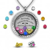My Aunt Gift from Niece | Aunt Jewelry | Aunt Necklace | I love my Aunt Charm Necklace | Stainless Steel 30mm Authentic Floating Charm Locket | Memory Locket Filled with Charms Best Aunt Gifts