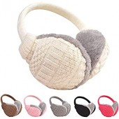 Meihuida Women Girls Winter Warm Knitted Ear Warmers Faux Fur Plush Earmuffs