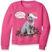 Hanes Girls' Ugly Christmas Sweatshirt