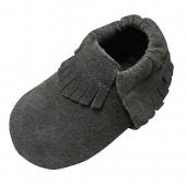 Mejale Baby Soft Suede Soled Leather Moccasins Tassel Slip-on Infant Toddler Shoes Pre-walker
