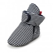 QGAKAGO Baby Girls or Boys Fleece Booties - Cotton Lining and Soft Sole Shoes