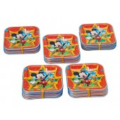 American Greetings Mickey Mouse Square Plate (40 Count), 7