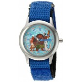Disney Boy's 'Moana' Quartz Stainless Steel and Nylon Casual Watch, Color:Blue (Model: WDS000036)