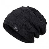PAGE ONE Mens Winter Baggy Slouchy Beanie Hat Trendy Warm Cable Knit Cap Men Women