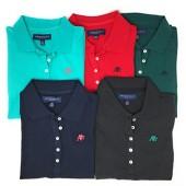 Aeropostale Women's Polo Shirt Set of 5