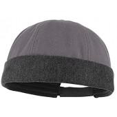 GEMVIE Unisex Solid Cotton Skull Cap Adjustable Rolled Cuff Docker Cap