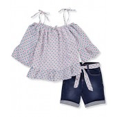 Limited Too Girls Fashion Top and Short Set