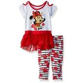 Disney Girls' Minnie 2 Piece Legging Set