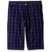 Lacoste Boys' Windowpane Check Bermuda Shirt
