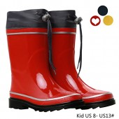 VVFamily Gilrs Rubber Boots For Kids Outdoor Rain Shoes Boys Waterproof Rainboot (children/Toddler/Little Kid), Navy Blue/Red/Yellow