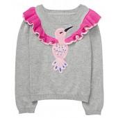 Gymboree Baby Girls Long Sleeve Hummingbird Pullover