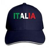 Italia Italy Italian Flag Classic 100% Cotton Hat Caps Unisex Fashion Baseball Cap Adjustable Hip Hop Hat(6 Colors)