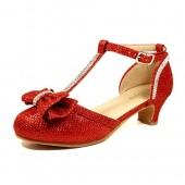 Nova Utopia Toddler Little Girls Low Medium Heel Dress Sandal Shoes (Size 9-4)