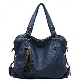 Big Lady Purse Women Handbags Soft Leather Tote bag Shoulder Bag With Tassel
