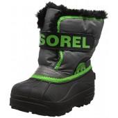Sorel Unisex-Kids Children's Snow Commander, Quarry, Cyber Green, 12 M US Little Kid