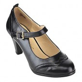 Chase  Chloe Dora-2 Women's Round Toe Two Tone Mary Jane Pumps