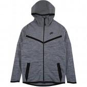 Nike Mens Tech Knit Wind Runner Hoodie Grey/Black 728685-043