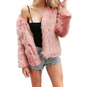 Comeon Women's Winter Warm Fluffy Faux Fur Coat Hooded Jacket Cardigan Outerwear Tops for Party Club Cocktail