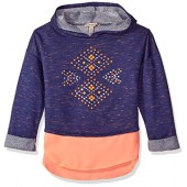 Speechless Big Girls' Space Dye French Terry Hoodie