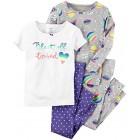Carter's Baby Girls' 4 Pc Cotton 331g224, Print, 9 Months