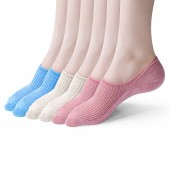No Show Socks women Non-Slip Socks Anti-Slide Low Cut Invisible Casual Loafer Socks Boat Shoe Liners 6 Pack
