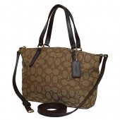 Coach Outline Signature Mini Kelsey Crossbody Satchel Bag