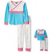 Dollie & Me Girls' Printed Snugfit Sleepwear Set