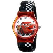 Disney Kids' W001201 Cars Lightning McQueen Plastic Watch with Black Strap