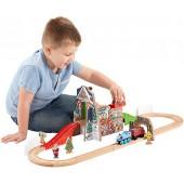 Thomas & Friends Fisher-Price Wooden Railway, Santas Workshop Express