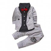FEITONG Kid Baby Boy Gentry Clothes Set Formal Party Christening Wedding Tuxedo Bow Suit