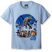 Star Wars Big Boys' At-At Battle Scene Rogue One T-Shirt