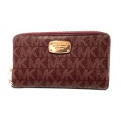 Michael Kors Jet Set Item Large Flat Multifunction Phone Wristlet Case Merlot