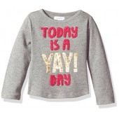 Mud Pie Baby Toddler Girls' Sequin Dazzle Long Sleeve T-Shirt