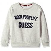 GUESS Boys' Long Sleeve Graphic Fleece